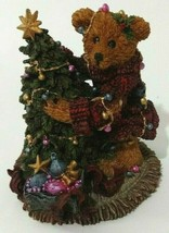 Vtg 90s Boyds Bears Friends Elliot & the Tree 2241 Figurine Christmas Retired - $13.81