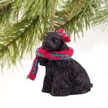 1 X Cocker Spaniel Miniature Dog Ornament - Black by Conversation Concepts - $14.99