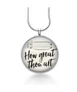 How Great Thou Art Necklace - Bible Quote Pendant - Jewelry Gift for Her - $18.32