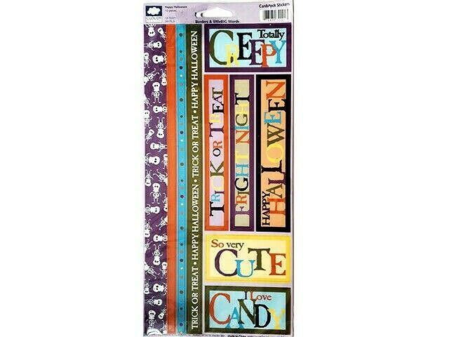 Cloud 9 Design Happy Halloween Cardstock Sticker Set #12-72221