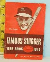 1944 Famous Slugger Yearbook Louisville Slugger Stan Musial Buy War Bonds - $19.31