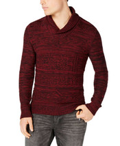 American Rag Men's Jacquard Shawl-Collar Sweater (Red, S) - $48.04