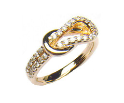 1.0 Carat Love Knot Anniversary, Wedding Band Ring 14kt Gold Over 925 St... - $110.09