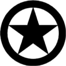 Star in Circle Vinyl Sticker Decal shapes - $8.61