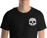 Cute Skull Shirt, Skull Tee, Embroidery Shirt, Horror Shirt, Rocker Shirt, Gift