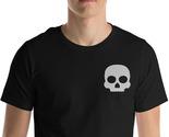 Cute Skull Shirt, Skull Tee, Embroidery Shirt, Horror Shirt, Rocker Shirt, Gift