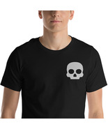 Cute Skull Shirt, Skull Tee, Embroidery Shirt, Horror Shirt, Rocker Shirt, Gift - $26.95 - $33.95