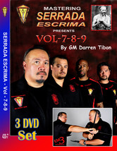 3 DVD SET Serrada Escrima #7 #8 #9 Espada y Daga Abanico Bolo Baston GM ... - $69.95
