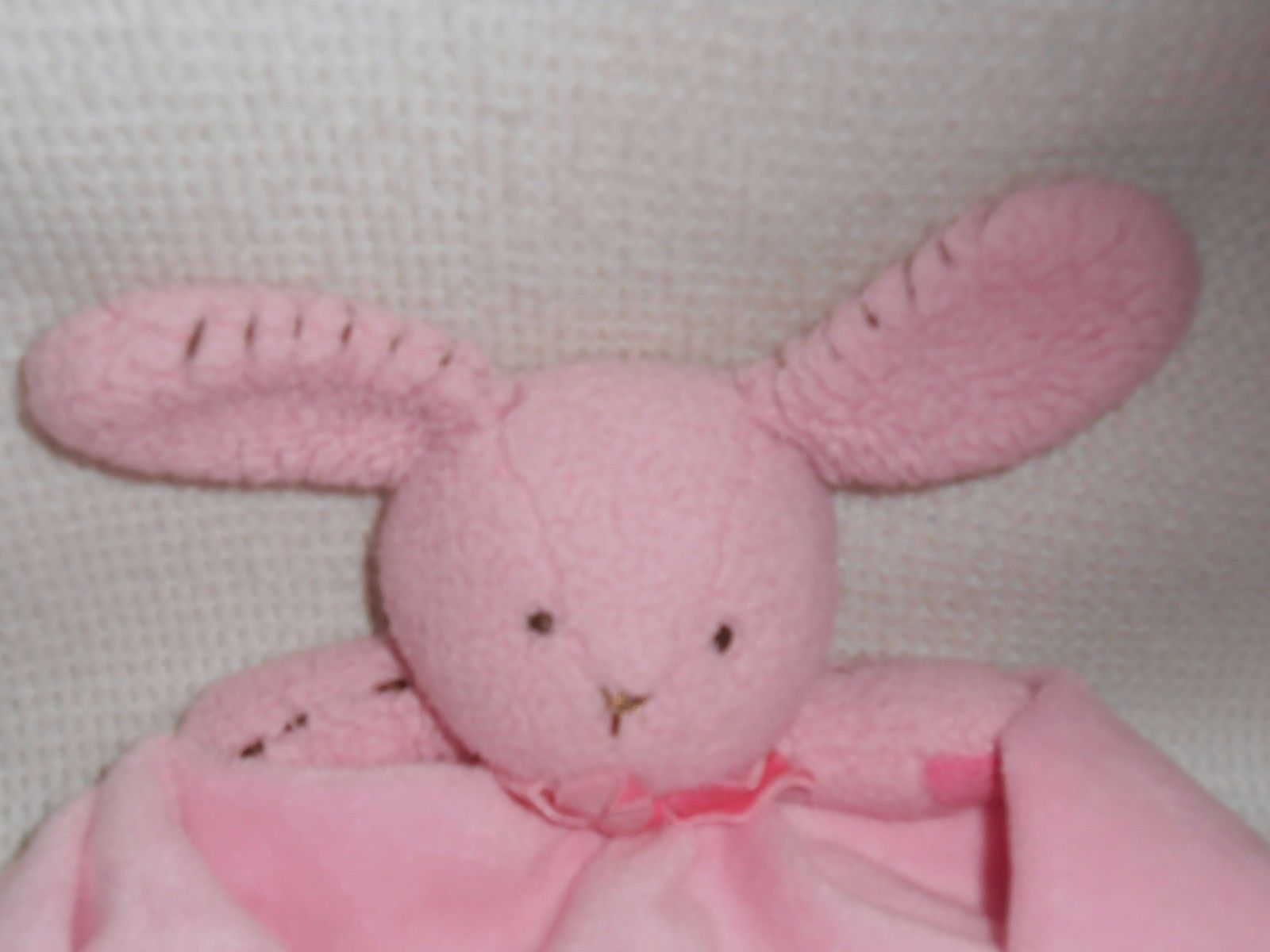 Koala Baby Girls Pink Bunny Rabbit Security Blanket Plush Rattle Lovey Soft NWT