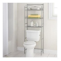 Mainstay.. 3-Shelf Bathroom Space Saver Storage Organizer Over The Rack ... - $31.03