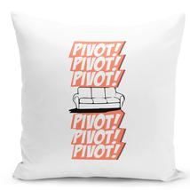 Throw Friends Pillow Pivot Decorative Home Decor Zippered Pillow Cover 16 inch - $28.49