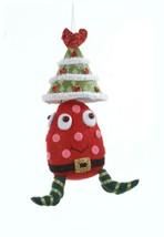 """Kurt Adler 7.5"""" Ugly Cuties Alien """"Joey"""" Red Tree Hat Animal Christmas O... - $11.62"""