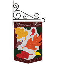 Welcome Fall Leaves Garden - Applique Decorative Metal Fansy Wall Bracke... - $29.97
