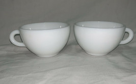 VINTAGE ANCHOR HOCKING ANCHORWARE COFFEE TEA MUG SET OF 2 - $15.83