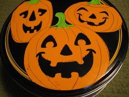 "Original HALLOWEEN JACK O LANTERN Pumpkin Tin 6""X2.5"" - $12.52"