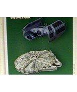Tie Advanced x1 and Millennium Falcon Star Wars 2005 Hallmark Keepsake m... - $39.60