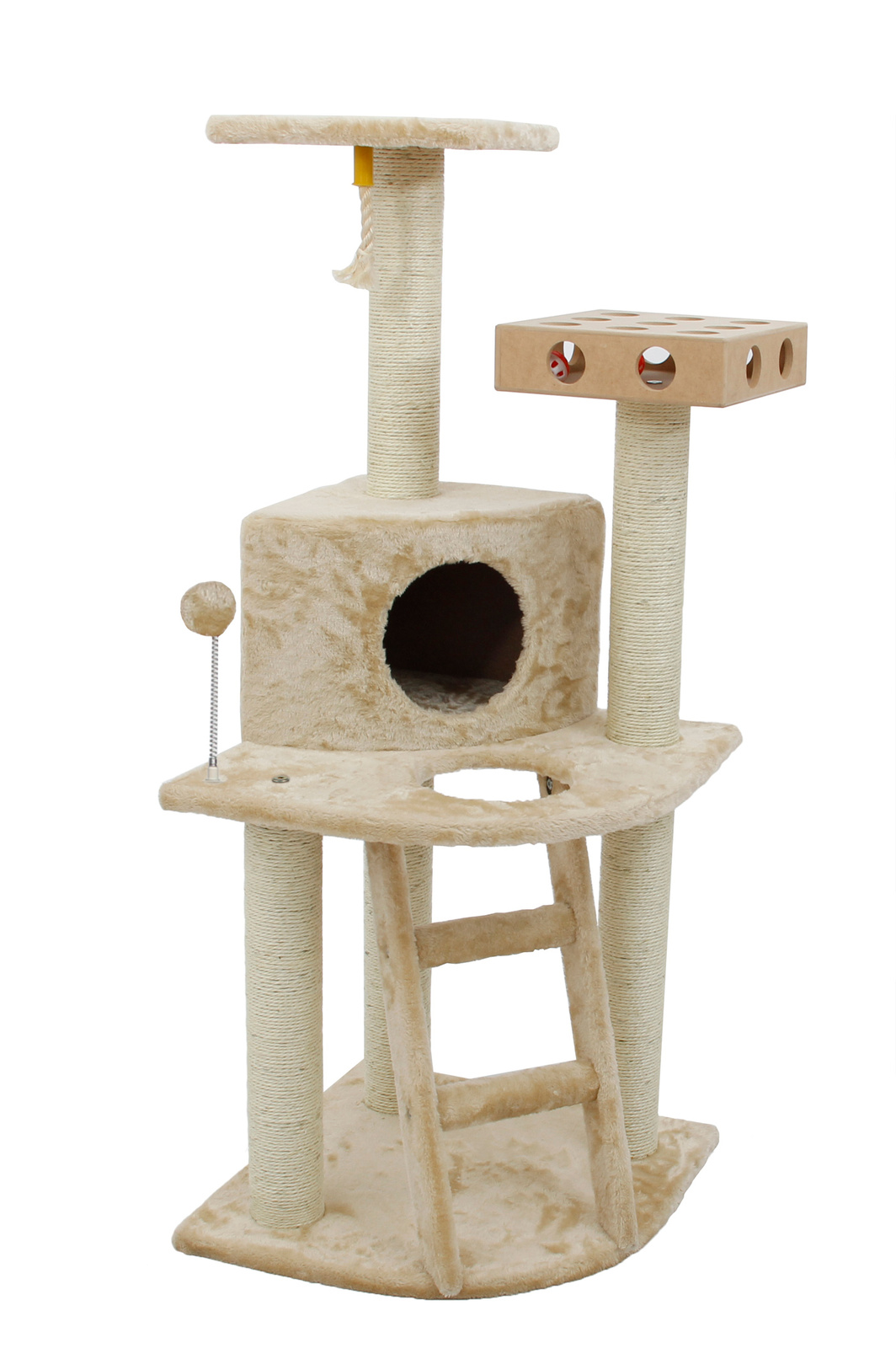Delux Cat Furniture Clubhouse w/Cat-IQ W/Busy Box