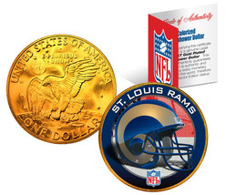 ST. LOUIS RAMS NFL 24K Gold Plated IKE Dollar US Coin *OFFICIALLY LICENSED* - $9.85