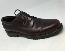 Cole Haan Country Burgundy Leather Cap Toe Oxford Shoes Mens 13M Waterproof - $37.39