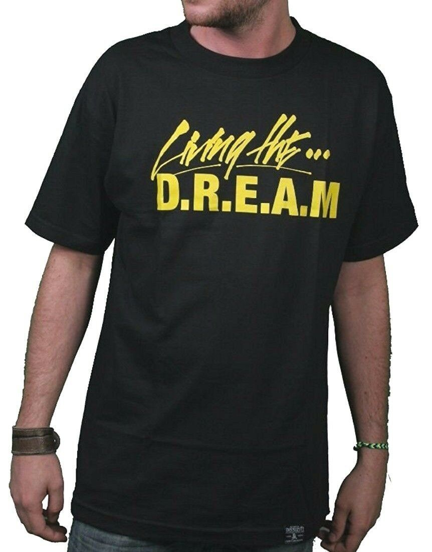 Dissizit! Living The D.R.E.A.M. Debt Rules Everything Money Black Yellow T-Shirt