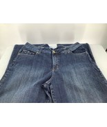 Lee Women 18Medium Jeans Dark Blue Slender Secret Low On Waist Zip Straight - $13.09