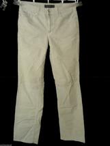 NINE WEST Corduroy Pants sz 8 Gray Stretch Straight leg Dress Dressy Sla... - $7.91