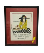 Handmade Completed Framed Emerson LISTEN HONEY Counted Cross Stitch  - $53.22