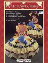 "Mary Quite Contrary Fibre Craft 10.5"" Pillow or 13"" Doll Crochet Pattern... - $1.77"
