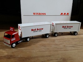 Winross Truck and Double Pup Trailers with Hitch Red Arrow Freight Lines... - $24.95