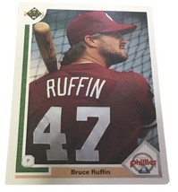 Bruce Ruffin 1991 Upper Deck Philadelphia Phillies Baseball Card #410 - $5.00