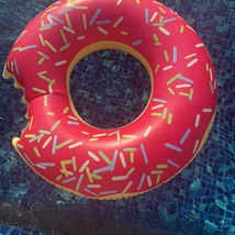 Swim About Large Donut Swim Ring Tube Pool Inflatable Floats for Adults (Pink) image 5
