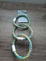"(1)BRAND NEW ""GREENBRIER KENNEL CLUB ROPE 5"" DIAMETER RING  MULTI-COLORE... - $8.77"