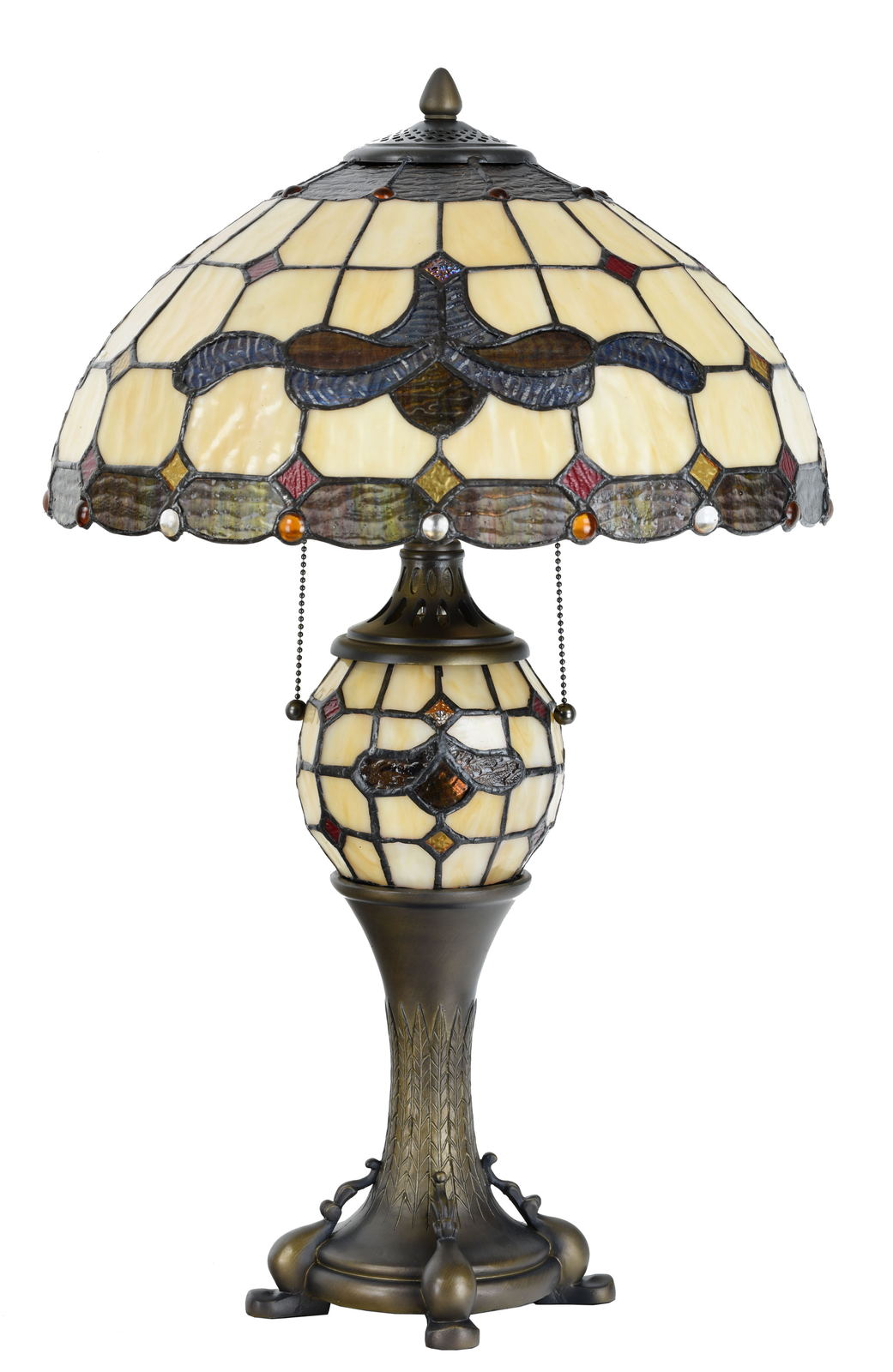 Tiffany Style Table Lamp Victorian Desk Lamp Stained Glass Home Décor Lamp