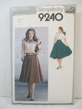 Simplicity Pattern 9240 Miss Size 10 Shirt Long Short Sleeves & Skirt Cu... - $12.86