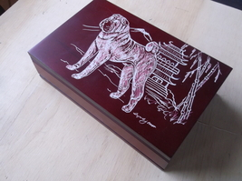 Shar Pei- Beautifully Hand engraved Jewelry Box by Ingrid Jonsson. - $65.00