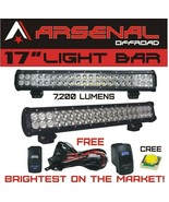 17 inch CREE LED Work Light Bar Combo Beam Offroad SUV 4X4 Driving Truck... - $49.85