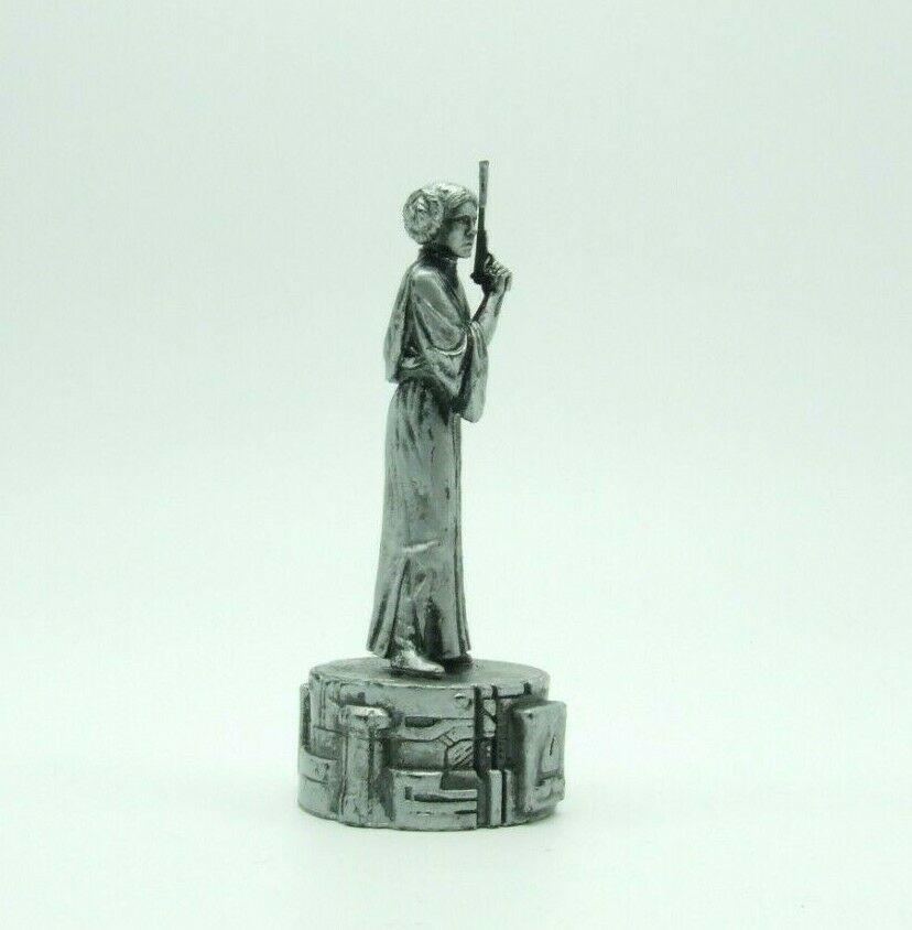 Star Wars Saga Edition Silver Princess Leia Bishop Chess Replacement Game Piece image 3