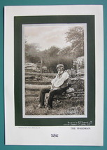 OLD WOODMAN White Beard Resting Pensive - 1901 Offset Litho Print - $8.55