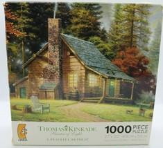 "Thomas Kinkade Painter Of Light ""A Peaceful Retreat"" 1000 Pc Puzzle - Read Desc - $9.27"