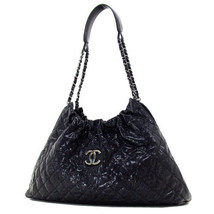 Chanel Matrasse Chain Shoulder Bag Tote Vintage Caviar Skin Black Used EMS - €1.979,86 EUR