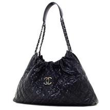 Chanel Matrasse Chain Shoulder Bag Tote Vintage Caviar Skin Black Used EMS - ₨168,071.49 INR