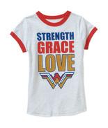 DC Superhero Wonder Woman Girls' Strength Grace Love T-Shirt S 6-6X  NWT - $10.39