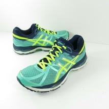 Asics Gel Cumulus 17 T5D9N  Green Yellow Running Athletic Shoes Women's ... - $31.49