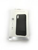 Platinum -  Case for Apple iPhone XS Max Carbon Fiber Kev Black #NO0997 - $5.59