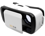 LEJI Mini 3D VR BOX Virtual Reality Glasses for iPhone Samsung - White
