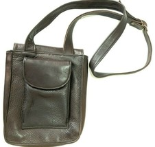 Vintage Pattie Jarrell Leather Crossbody Bag Brown Pebbled Sporty Casual... - $64.99