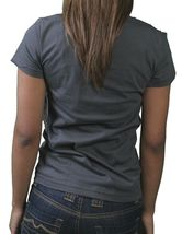 Neff Womens Charcoal Corpa Girls Sucker Face Smiley Emoji T-Shirt NWT image 4