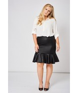 Black Quilted Look Skirt Sizes 22, 24, 26 Brand NEW - $12.69