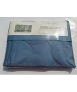 JCP HOME COLLECTION FULL FLAT SHEET SMOKE BLUE 200 TC PERCALE STICKER RE... - £15.93 GBP