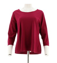 Women with Control Choice Solid Printed Knit Top CherriesJubilee XXS NEW... - $11.86